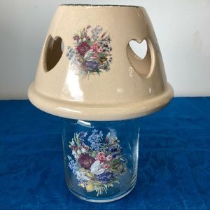 Home & Garden Party Floral Candle Jar & Shade